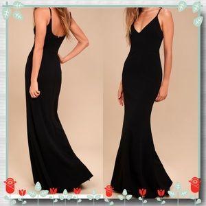Infinite Glory Black Maxi Dress
